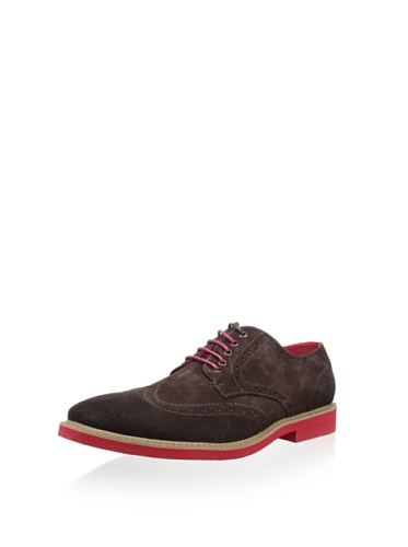 Steve Madden Men's Kikstart Suede Lace-Up (14, Brown)
