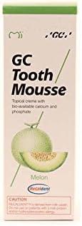 GC Tooth Mousse Pasta de dientes de 35 ml de melón, Pack de 2 (2x 35ml)