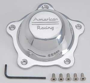 American Racing Wheels 3505293 Short Polished Alum Center Cap w/Logo (Alum Cap)
