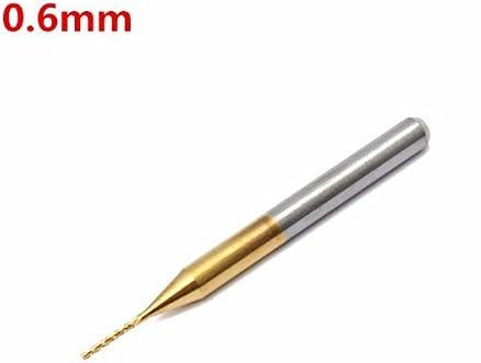 Queenwind 0.6 mm タングステン鋼チタンコートカーバイドエンドミル CNC PCB ロータリーバーフライスカッター
