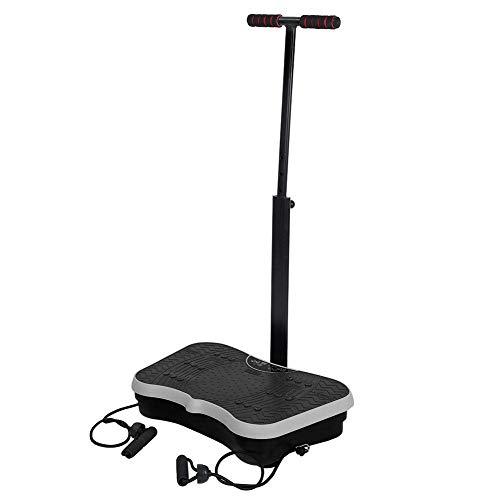 AYNEFY Body Shaping Machine, Whole Body Platform Shaped Vibration Exercise Balance Fitness Training Equipment for Home Office Black US Plug 110V