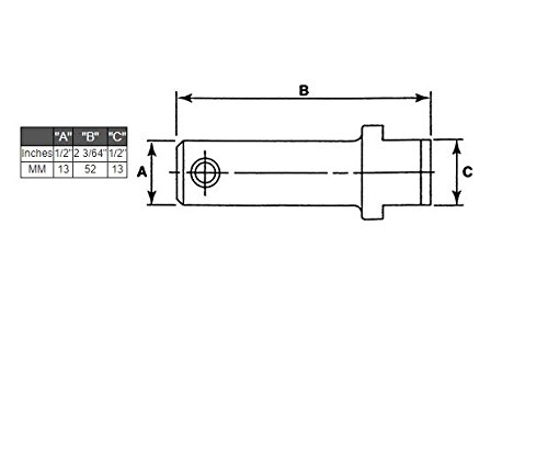 Fork Pin Kit Class II Forklift Part 1/2 X 2 3/64 X 1/2 CLARK YALE HYSTER KOMATSU