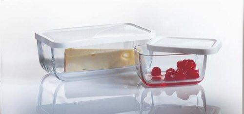 Pasabahce 97408 Snow Box Set, 3er Set Glasschalen mit Deckel ... | {Lebensmittelaufbewahrung 57}