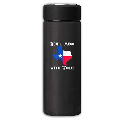 Don't Mess with Texas State Longhorn Star Business Scrub Thermos Cup Stainless Steel Vacuum Thermos Flask Keeps 18 Hours Hot 13 Oz - Longhorns Thermos Steel Stainless Texas