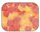 Gummi Gummy Sour Peach Hearts Candy 1 Pound Bag