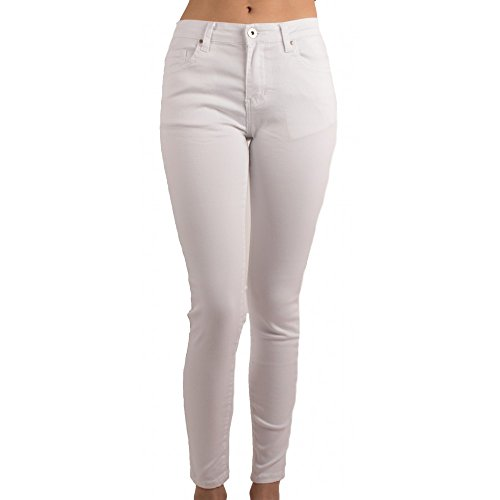 Blanc Haute Ultra Blanc Femme Jean Taille Primtex Coupe Stretch Slim Jeaniful PvxpqRnw7g