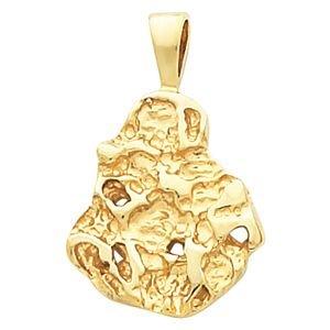 Or jaune 14 carats pendentif pépite JewelryWeb