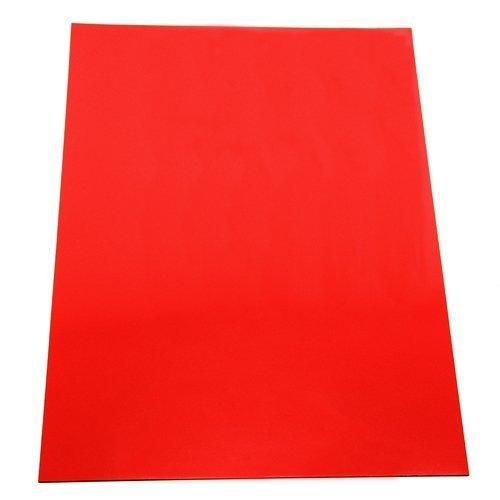 Im/án en forma de hoja para manualidades 297 x 210 x 0,85 mm, A4 color rojo Magnet Expert Ltd