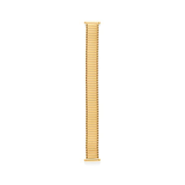 Speidel Ladies Twist-O-Flex Expansion Replacement Watch Band Silver and Gold Tone Straight End 14-18mm