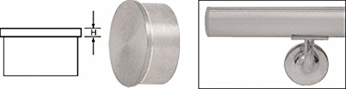 Handrail Caps End - C.R. LAURENCE HR15FBS CRL Brushed Stainless Flat End Cap for 1-1/2