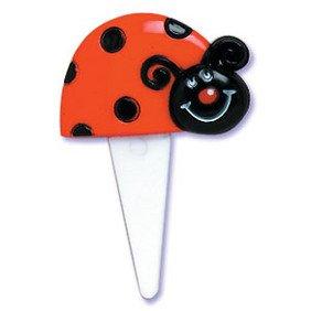 CakeDrake LADYBUG Lady Bug Cute (24) Cupcake Cake Party Picks Decor Toppers Decorations]()
