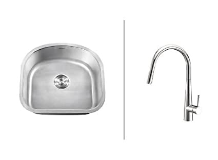 Ruvati Rvc2472 Stainless Steel Kitchen Sink And Chrome Faucet Set