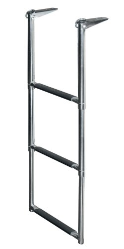 JIF Marine DMX3 Telescoping Drop Stainless Steel Ladder, -