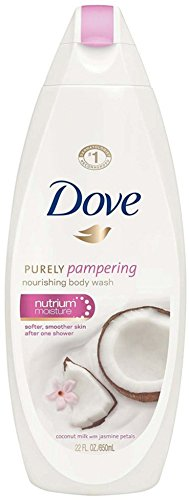 Dove Cream Oil Creamy Cherry Blossom & Almond Scent Body Wash 24 oz (Pack of 6)