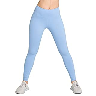 LOVESOFT Womens High Waist Leggings, Ankle Length Solid Color, Soft and Strench, Basic Yoga Pants for Workout Casual Sky Blue