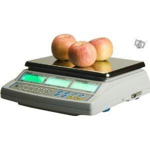 Promoción - Báscula profesional poids-prix para venta Commerce mercado con Vignette verde de homologación 3 kg x 1 g - Báscula de comercio sin Ticket: ...