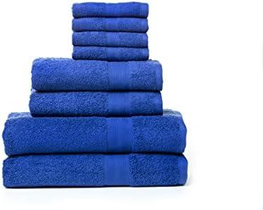 Rare Fig T/üchers/ätze Reine Baumwolle hoch absorbierend 2 Badetuch 8 St/ücke 2 Handtuch /& 4 Waschent/ücher f/ür Badezimmer Friseursalon Spa und Massage Handt/ücher G/ästehandt/ücher Blau 500 GSM