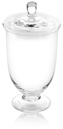 - IVV Glassware Toscana Jar with Lid, 15-Inch, Clear