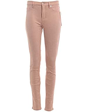 7 For All Mankind Women's Faux Leather Seamed Skinny Pants