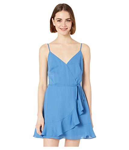Jack by BB Dakota Junior's Almost Lurex Stripe CDC wrap Dress, sea Blue 2