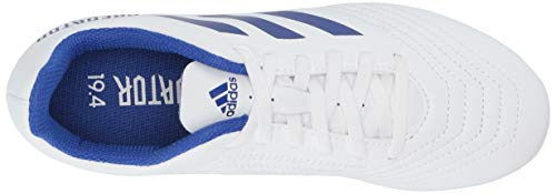 adidas Unisex Predator 19.4 Firm Ground Soccer Shoe White/Bold Blue/Bold Blue, 3 M US Little Kid by adidas (Image #7)