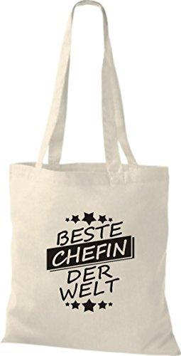 ShirtInStyle Bolso de tela Bolsa de algodón Mejor CHEFIN der Welt Natural