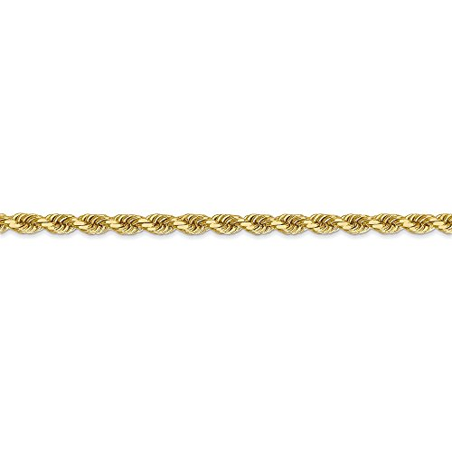 ICE CARATS 14k Yellow Gold 3.5mm Link Rope Lobster Clasp Chain Necklace 30 Inch Handmade Fine Jewelry Gift Set For Women Heart by ICE CARATS (Image #6)