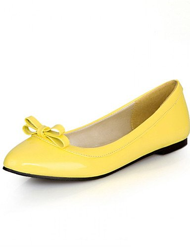 Blanco under Amarillo yellow ZQ Negro 1in Tac¨®n under Bailarina mujer Semicuero Trabajo Rojo de Planos y Zapatos Plano red Azul 1in Casual Oficina RRq6aw