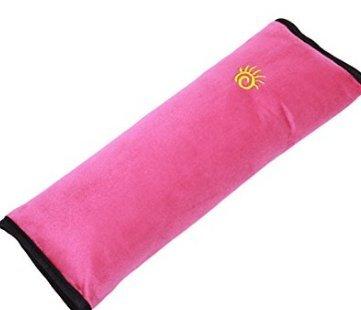 Dgg copri cintura per bambini, bambini auto copricintura morbido cuscino poggiatesta cuscino di sostegno (rosa rosso) Rose Red DGG.