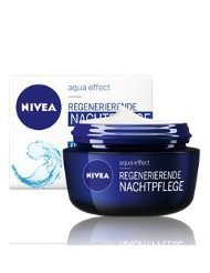 Lotus Flower Extract - Genuine German Nivea Regenerating Night Care Cream Aqua Effect with Lotus Flower Extract for all skin types 1.69...