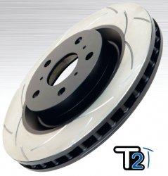 DBA T-Slot Uni-Directional Slotted Brake Rotor fits Pontiac G8 GT 6.0L (321mm Front disc) 2008-2009
