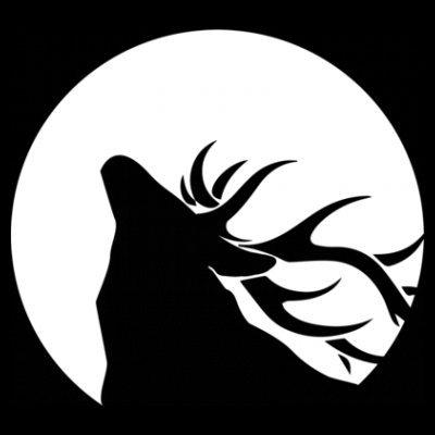 Sudadera con capucha de mujer Deer with Moon by Shirtcity Negro