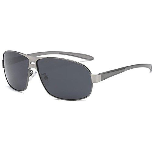 Aoligei de I gafas polarizadas Color Hombre de sol clásicas gafas shing cepillado sol doble rxHwYqrZO
