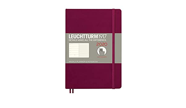 Agenda semanal y cuaderno 2020, tapa blanda, tamaño A5, 12 ...
