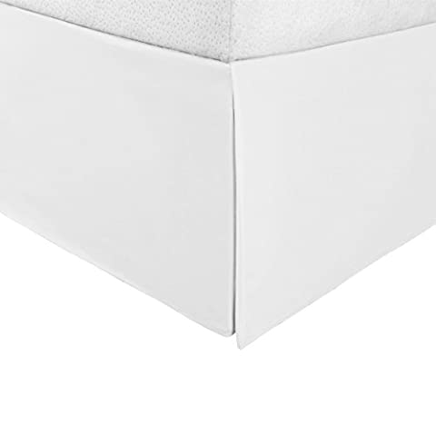 """Superior Infinity Luxury Soft 100% Brushed Microfiber Tailored Bed Skirt with 15"""" Drop, Wrinkle Resistant with Pleats and Split Corners - Twin XL Bedskirt, (Bedskirt For Twin Bed)"""