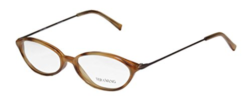 Vera Wang V11 Womens/Ladies Prescription Ready Hip & Chic Designer Full-rim Eyeglasses/Eyeglass Frame (49-16-135, Caramel - Geek Glasses Frames Chic