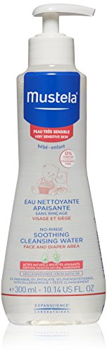 Mustela No-rinse Soothing Cleansing Water for Very Sensitive Skin, 10.14 oz. (Acne Baby Treatment)