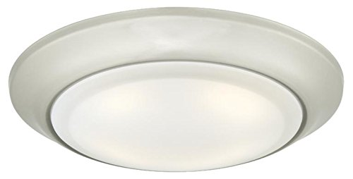 Westinghouse Lighting 6322700 Large LED Indoor/Outdoor Dimmable Surface Mount Wet Location, Brushed Nickel Finish with Frosted Lens,