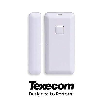 White Texecom Ricochet Micro Contact-W Compact Door Contact