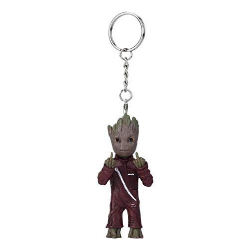 Baby Groot Action Figures Toy Key Chain Home Ornament Cute Model Toy for Kid Cartoon Tree Man Keychain Car Hanging Decor Keyring by Inveroo