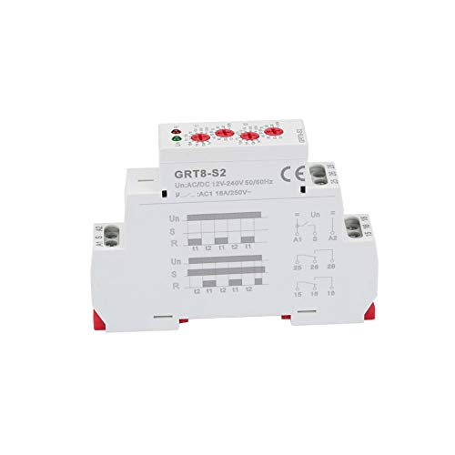 - Cycle Timer,GRT8-S2 Mini Asymmetric Cycle Timer ON/OFF Repeat Cycle Time Relay (AC/DC 12-240V)
