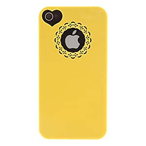 ZCL Solid Color Carving and Heard-shape Pattern Hard Case for iPhone 4/4S (Assorted Colors) , Purple