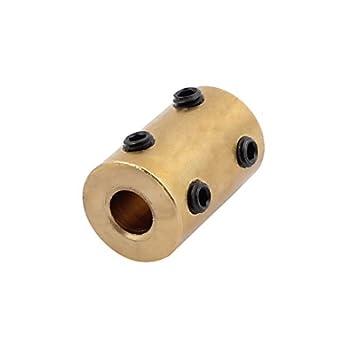 eDealMax 6 mm a 6 mm Bore Brass Robot Motor de la rueda de acoplamiento del