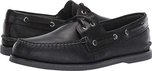 Sperry Top-Sider Gold Cup Authentic Original Rivingston Boat Shoe Men 11 Black (Sperry Eye Men Topsider Gold)