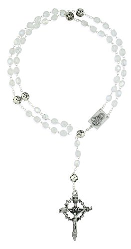 Crown of Thorns Catholic Rosary with Crystal Beads]()