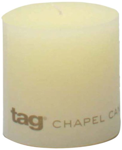 Tag 100061 3-Inch by 3-Inch Unscented Pillar Candle, (Pillar Candle Tag)