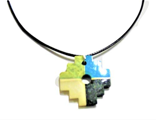 (Ckakana Andean Cross Serpentine and Turquoise Semiprecious Stone Necklace From Peru)