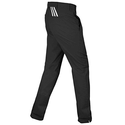 Adidas Men's Puremotion Stretch 3-Stripes Pants - US 36-34 - Black/Vista Grey