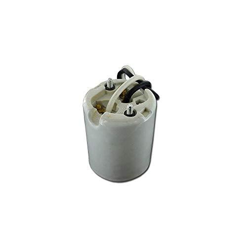 Leviton 8756-2 Mogul Base, One-Piece, Keyless, HID, Glazed Porcelain Lampholder, HPS up to 400W, Single Circuit, Back Wired, 4KV-Pulse Rated, White
