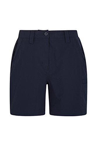 Mountain Warehouse Trek Stretch Womens Shorts - Ladies Summer Pants Black 8